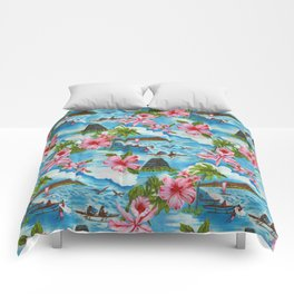 Hawaiian Scenes Comforters