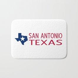 Texas: San Antonio (State Shape & Star) Bath Mat