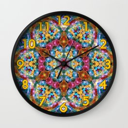 Fractal Jewels Wall Clock