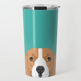 Beagle dog head cute pet portrait beagles lovers pure breed dog gifts Travel Mug