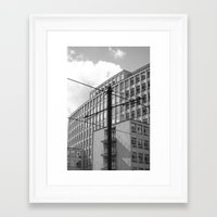 the wire Framed Art Prints featuring wire by Mylo Photography