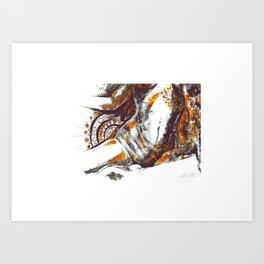 Golden goddess III Art Print