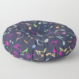 Music Colorful Notes III Floor Pillow