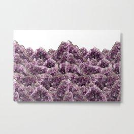 Amethyst Landscape - Gemstone - Geodes Crystals Metal Print
