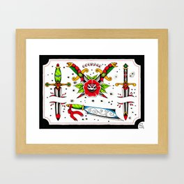 Pointy things Framed Art Print