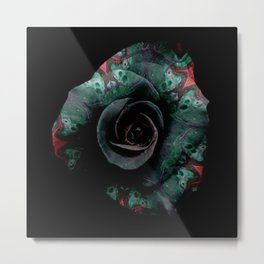 Dark Rose - Abstract Floral Photography by Fluid Nature Metal Print