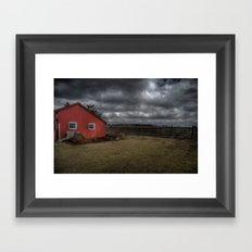 The coming storm front Framed Art Print