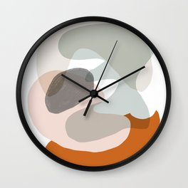 Shapes and Layers no.15 - soft neutral colors Wall Clock