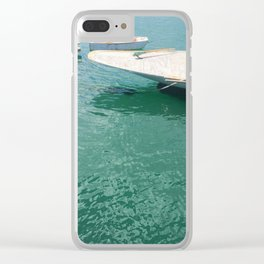 Three Different Boats Clear iPhone Case