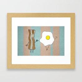 Bacon & Egg Togetherness Framed Art Print