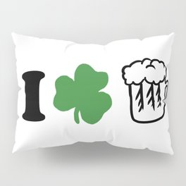 St Patricks Day I Love Beer Irish Ireland Gift Pillow Sham