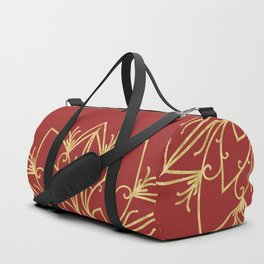 Golden Snowflake Duffle Bag