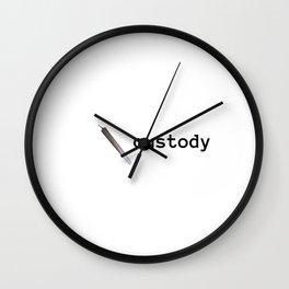 Joint Custody Wall Clock