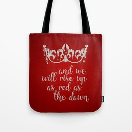 Red as the Dawn Tote Bag