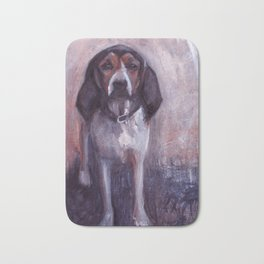Jane the rescued hound dog Bath Mat
