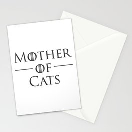 Mother of Cats, Cat Mom, Cat Lover Stationery Cards