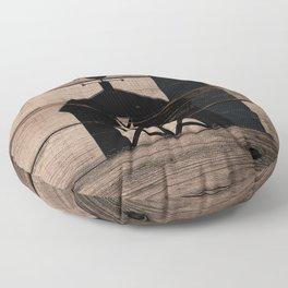 Black Rustic Barn & Rooster Floor Pillow