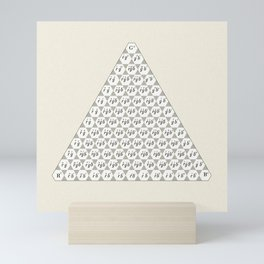 Lichtenberg-Mayer Colour Triangle with letters and numbers, Remake of Mayer's original illustration Mini Art Print