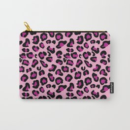 Leopard-Pink+Black+Purple Carry-All Pouch