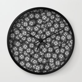 Poker chips B&W / 3D render of thousands of poker chips Wall Clock