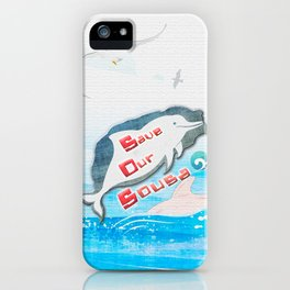 LOVE TAIWAN PINK DOLPHINS / SAVE TAIWAN PINK DOLPHINS iPhone Case
