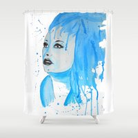 elsa Shower Curtains featuring elsa by Laurie Art Gallery