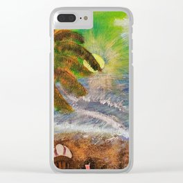 Washed Ashore Clear iPhone Case