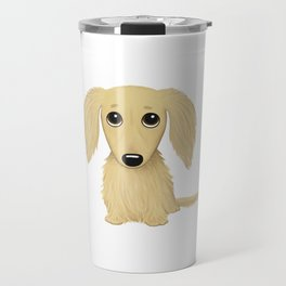 Longhaired Cream Dachshund Travel Mug