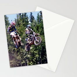 Closing In - Motocross Racers Stationery Cards