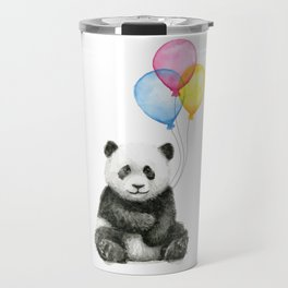 Panda Baby with Balloons Travel Mug