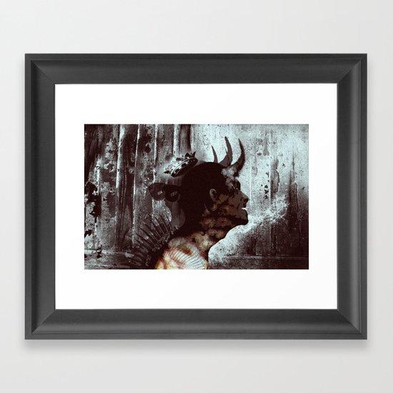 Darkness and light Framed Art Print
