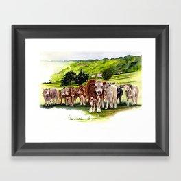Herd It Throught the Grapevine Framed Art Print