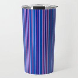 Purple Pop Stripes 1 Travel Mug
