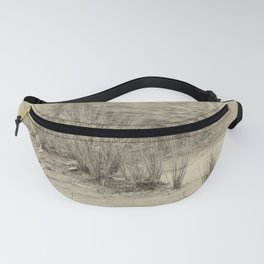Beautiful river grasses in sepia Fanny Pack
