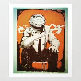 Detective Frog Art Print