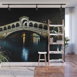 Rialto Bridge, Grand Canal, Venice, Italy Landscape by Jeanpaul Ferro Wall Mural
