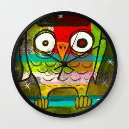 Owl Night Wall Clock