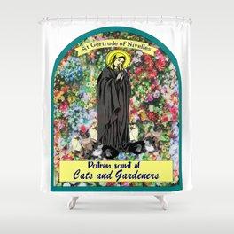 St Gertrude of Nivelles Shower Curtain