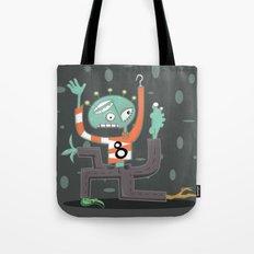 Crazy Alien Tote Bag