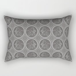 Grisaille Charcoal Grey Neo-Classical Ovals Rectangular Pillow