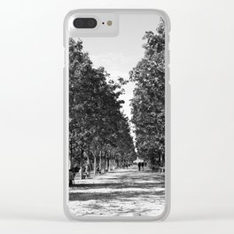 Paris in Black and White, Les Tuilleries Clear iPhone Case