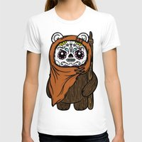 ewok T-shirts featuring Sugar Skull Ewok by Team Rapscallion