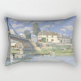Alfred Sisley - Bridge at Hampton Court, 1874 Rectangular Pillow