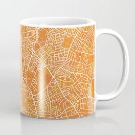 Leicester, England, Gold, Blue, City, Map Coffee Mug