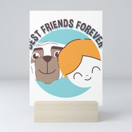 Best Friends Forever Kid and Dog Mini Art Print