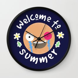 Welcome to summer Wall Clock