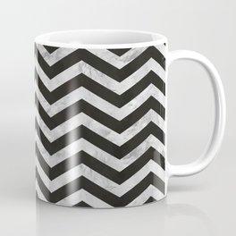 Silver Chevrons on black ink Coffee Mug