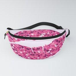 Glitter Pink Lips Fanny Pack