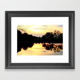 Sunset Reflection Framed Art Print