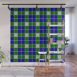 Team Colors 11 blue,green , silver pattern Wall Mural